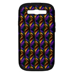 Seamless Prismatic Line Art Pattern Samsung Galaxy S Iii Hardshell Case (pc+silicone)