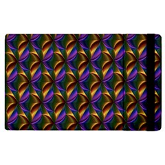 Seamless Prismatic Line Art Pattern Apple Ipad 3/4 Flip Case