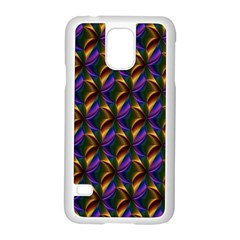 Seamless Prismatic Line Art Pattern Samsung Galaxy S5 Case (white)