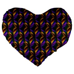 Seamless Prismatic Line Art Pattern Large 19  Premium Flano Heart Shape Cushions