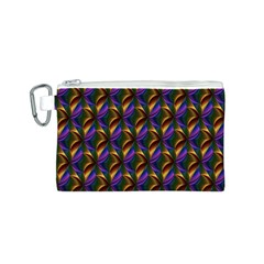 Seamless Prismatic Line Art Pattern Canvas Cosmetic Bag (s)