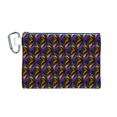 Seamless Prismatic Line Art Pattern Canvas Cosmetic Bag (M)