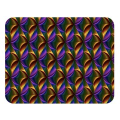 Seamless Prismatic Line Art Pattern Double Sided Flano Blanket (large)