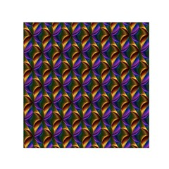 Seamless Prismatic Line Art Pattern Small Satin Scarf (Square)