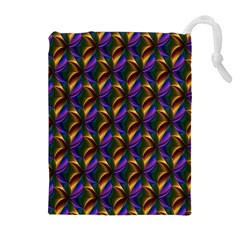 Seamless Prismatic Line Art Pattern Drawstring Pouches (extra Large)