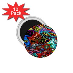 Vector Art Pattern 1 75  Magnets (10 Pack)