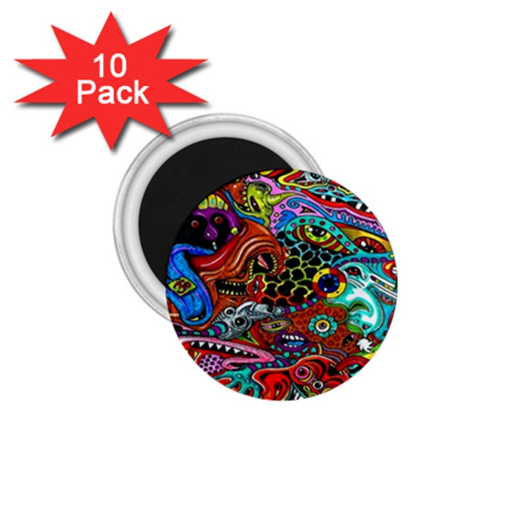 Vector Art Pattern 1.75  Magnets (10 pack)