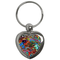 Vector Art Pattern Key Chains (heart)