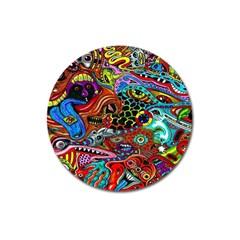Vector Art Pattern Magnet 3  (Round)