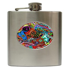Vector Art Pattern Hip Flask (6 Oz)