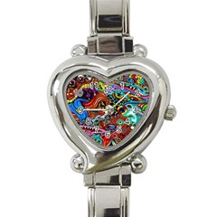 Vector Art Pattern Heart Italian Charm Watch