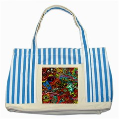 Vector Art Pattern Striped Blue Tote Bag