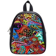 Vector Art Pattern School Bags (Small)