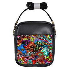 Vector Art Pattern Girls Sling Bags