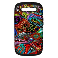 Vector Art Pattern Samsung Galaxy S Iii Hardshell Case (pc+silicone)