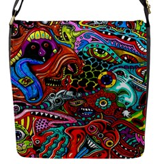 Vector Art Pattern Flap Messenger Bag (S)