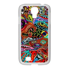Vector Art Pattern Samsung Galaxy S4 I9500/ I9505 Case (white)