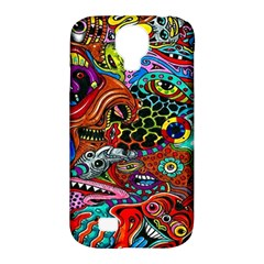 Vector Art Pattern Samsung Galaxy S4 Classic Hardshell Case (PC+Silicone)