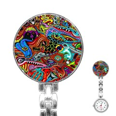 Vector Art Pattern Stainless Steel Nurses Watch