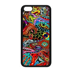 Vector Art Pattern Apple iPhone 5C Seamless Case (Black)