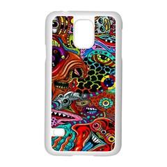 Vector Art Pattern Samsung Galaxy S5 Case (white)