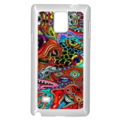 Vector Art Pattern Samsung Galaxy Note 4 Case (white)