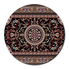 Vectorized Traditional Rug Style Of Traditional Patterns Round Mousepads