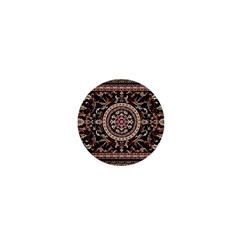 Vectorized Traditional Rug Style Of Traditional Patterns 1  Mini Buttons