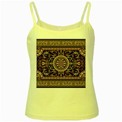 Vectorized Traditional Rug Style Of Traditional Patterns Yellow Spaghetti Tank