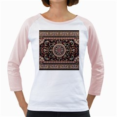 Vectorized Traditional Rug Style Of Traditional Patterns Girly Raglans