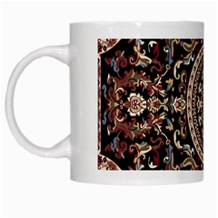 Vectorized Traditional Rug Style Of Traditional Patterns White Mugs