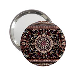 Vectorized Traditional Rug Style Of Traditional Patterns 2 25  Handbag Mirrors