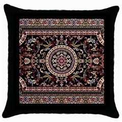Vectorized Traditional Rug Style Of Traditional Patterns Throw Pillow Case (black)
