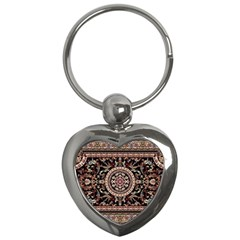 Vectorized Traditional Rug Style Of Traditional Patterns Key Chains (Heart)