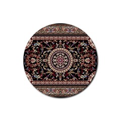 Vectorized Traditional Rug Style Of Traditional Patterns Rubber Coaster (Round)