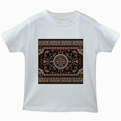 Vectorized Traditional Rug Style Of Traditional Patterns Kids White T-Shirts