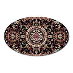 Vectorized Traditional Rug Style Of Traditional Patterns Oval Magnet
