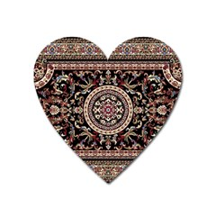 Vectorized Traditional Rug Style Of Traditional Patterns Heart Magnet