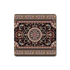 Vectorized Traditional Rug Style Of Traditional Patterns Square Magnet