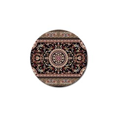 Vectorized Traditional Rug Style Of Traditional Patterns Golf Ball Marker (10 pack)