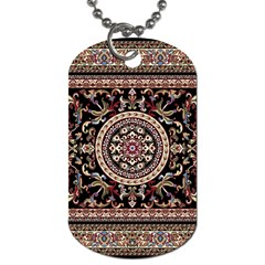 Vectorized Traditional Rug Style Of Traditional Patterns Dog Tag (two Sides)