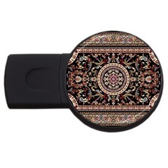 Vectorized Traditional Rug Style Of Traditional Patterns Usb Flash Drive Round (2 Gb)