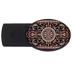 Vectorized Traditional Rug Style Of Traditional Patterns Usb Flash Drive Oval (2 Gb)