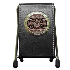 Vectorized Traditional Rug Style Of Traditional Patterns Pen Holder Desk Clocks