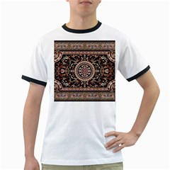 Vectorized Traditional Rug Style Of Traditional Patterns Ringer T-Shirts