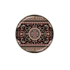 Vectorized Traditional Rug Style Of Traditional Patterns Hat Clip Ball Marker (4 pack)