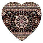 Vectorized Traditional Rug Style Of Traditional Patterns Jigsaw Puzzle (Heart) Front