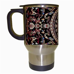 Vectorized Traditional Rug Style Of Traditional Patterns Travel Mugs (white)