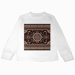 Vectorized Traditional Rug Style Of Traditional Patterns Kids Long Sleeve T Shirts