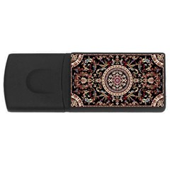 Vectorized Traditional Rug Style Of Traditional Patterns Usb Flash Drive Rectangular (4 Gb)